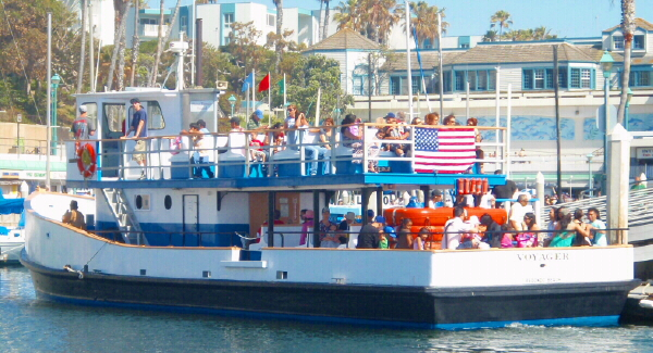 The Voyager Leaves From International Boardwalk At Base Of New Redondo Beach Pier Near Fun Factory Amut Center